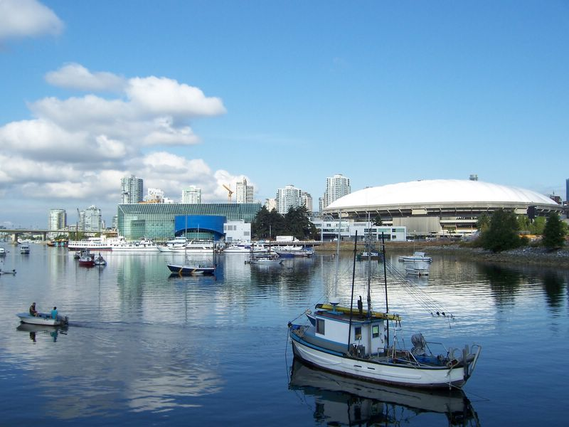 False Creek and BC Place Stadium, Vancouver BC